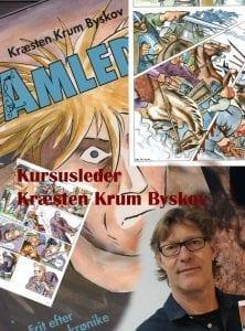 Kræsten Krum Byskov underviser på sommerkurset Tegneserie og Graphic Novels