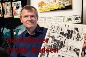 Frank Madsen underviser på sommerkurset Tegneserie og Graphic Novels
