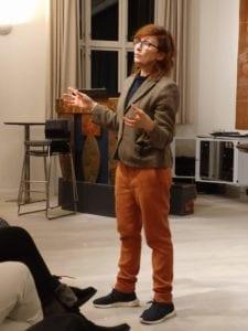 Skuespiller Bodil Jørgensen på besøg på Grundtvigs Højskole. Hun holdt foredrag om sit liv med teater og film.