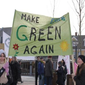 Klimademonstration med højskolen